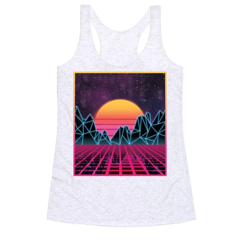Synthwave Racerback Tank Top
