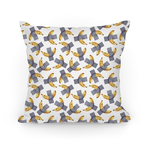 Banana Duct Tape Pattern Pillow
