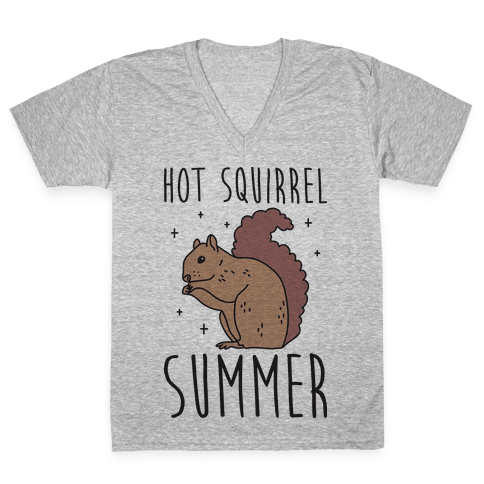 Hot Squirrel Summer V-Neck Tee Shirt