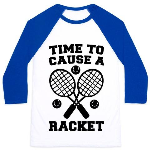 Time to Cause a Racket Baseball Tee
