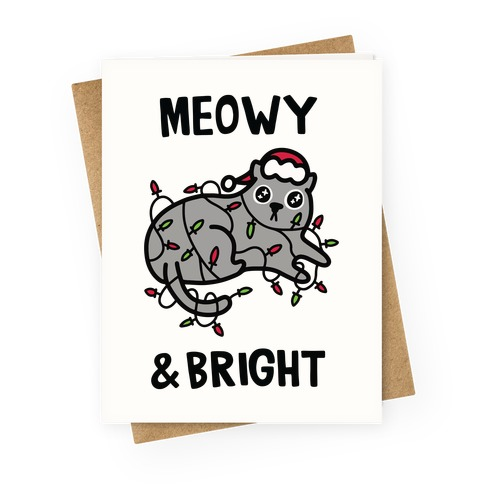 Meowy & Bright Greeting Card