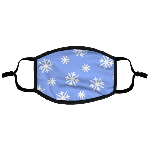 Snowflake Pattern Flat Face Mask