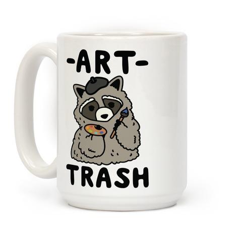 Art Trash Raccoon Coffee Mug