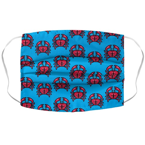 Crabs with Abs Pattern Accordion Face Mask