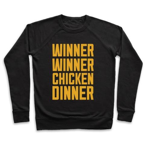 winner winner chicken dinner crewneck sweatshirt lookhuman