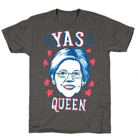 Yas Queen Elizabeth Warren Mens/Unisex T-Shirt