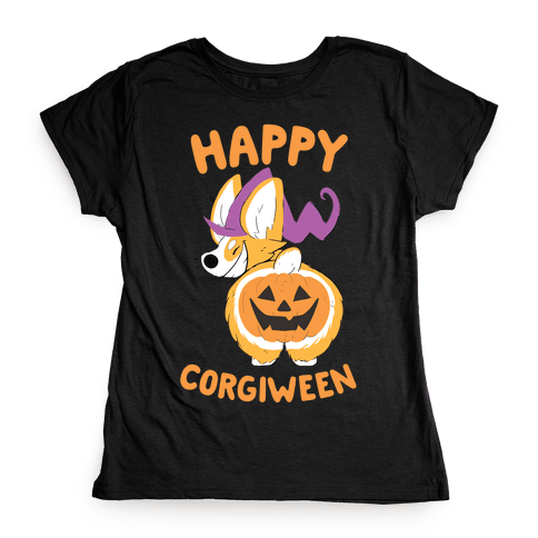 Happy Corgiween! Womens T-Shirt
