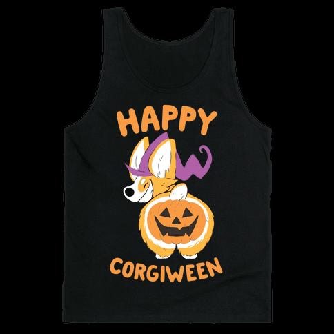 Happy Corgiween! Tank Top