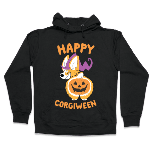 Happy Corgiween! Hooded Sweatshirt