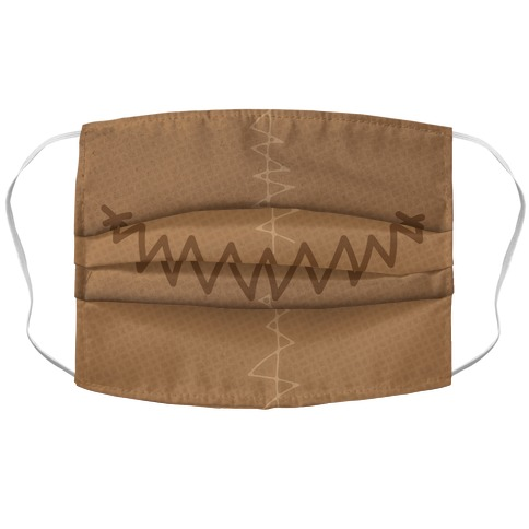 Scarecrow Face Accordion Face Mask