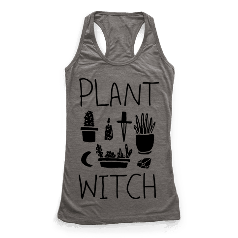 Plant Witch Racerback Tank Top