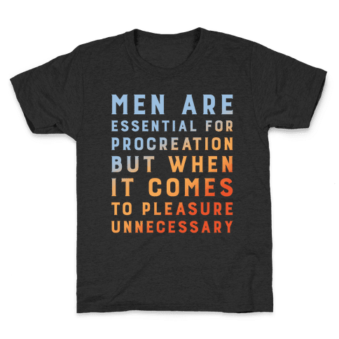 Men Aren't Necessary Quote White Print Kids T-Shirt