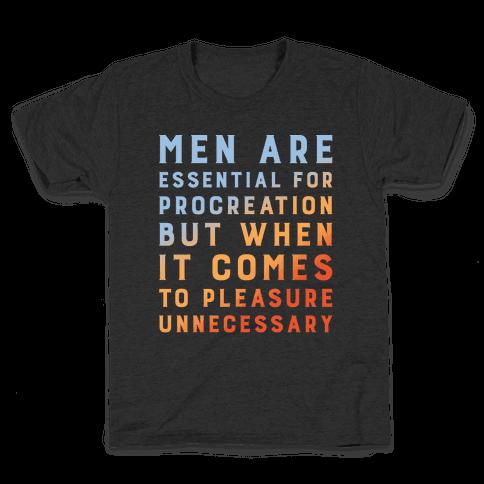 Men Aren't Necessary Quote White Print Kids T-Shirt