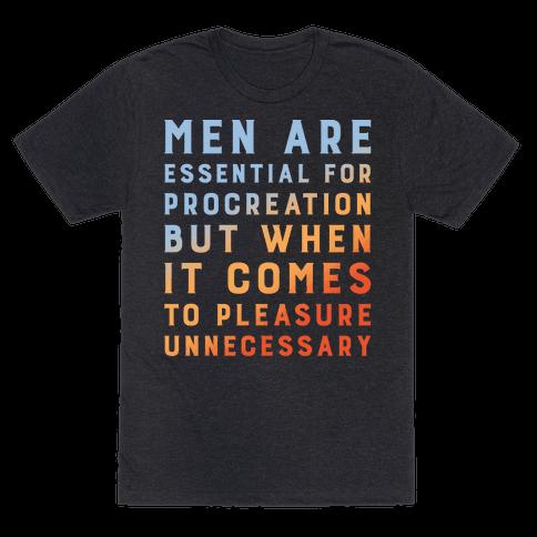 Men Aren't Necessary Quote White Print