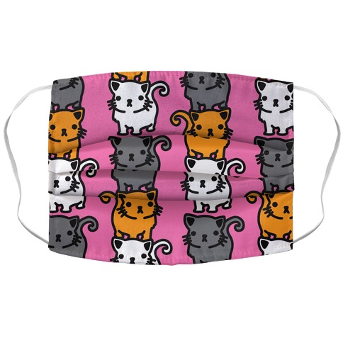 Kitty Stack Pattern Accordion Face Mask