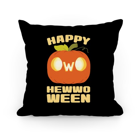 Happy Hewwoween OwO Pillow