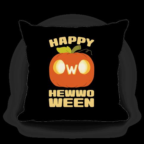 Happy Hewwoween OwO Pillow
