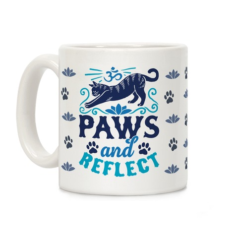 Paws And Reflect (Cat) Coffee Mug