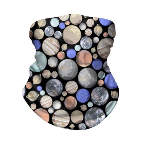 Planets Pattern Neck Gaiter