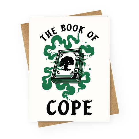 The Book Of Cope Green Magic Greeting Card