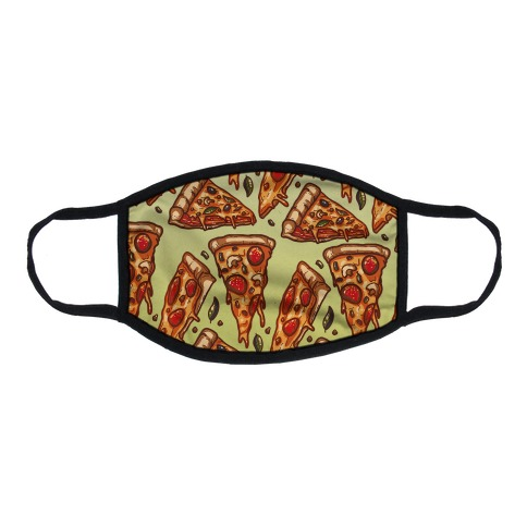 Pizzas Pattern Flat Face Mask