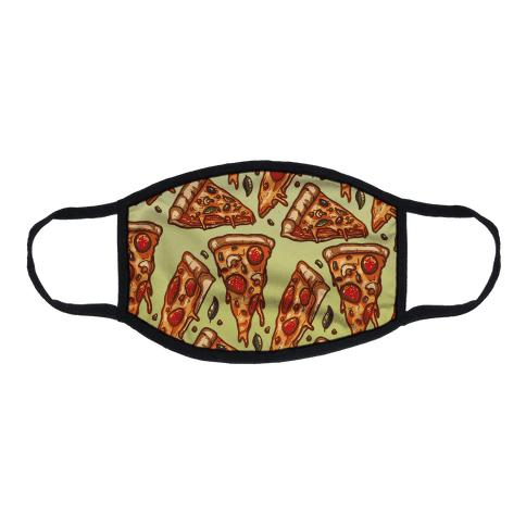 Pizzas Pattern Flat Face Mask