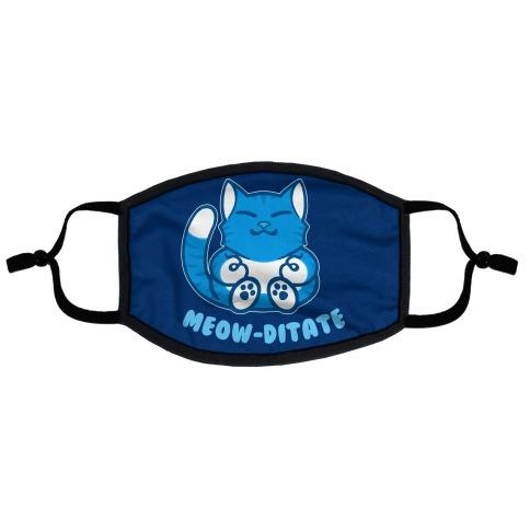 Meow-ditate Flat Face Mask