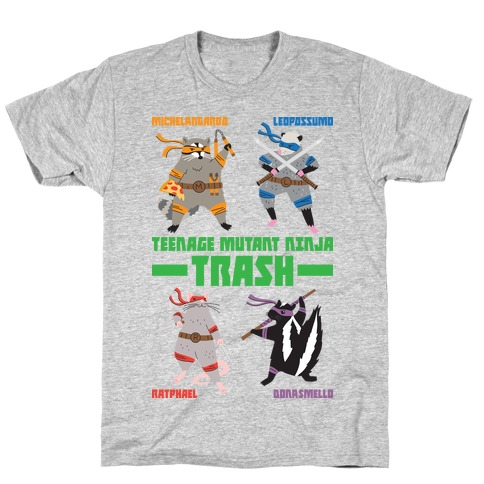 Teenage Mutant Ninja Trash TMNT Parody T-Shirt