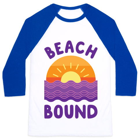 Beach Bound Baseball Tee