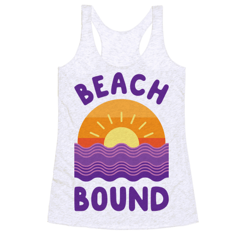 Beach Bound Racerback Tank Top