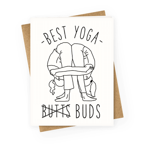 Best Yoga Buds Greeting Card