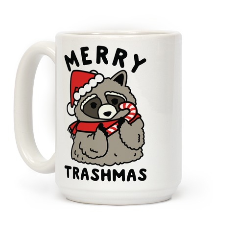 Merry Trashmas Raccoon Coffee Mug