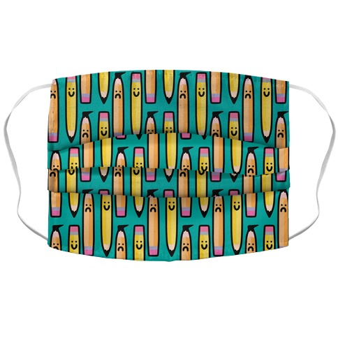 Emotional Pencil Pattern Accordion Face Mask