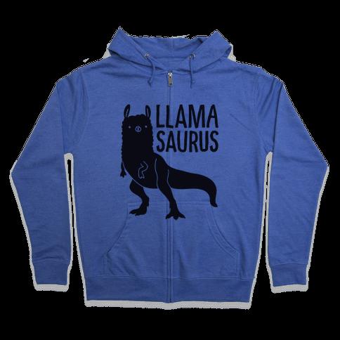 Llamasaurus Zip Hoodie