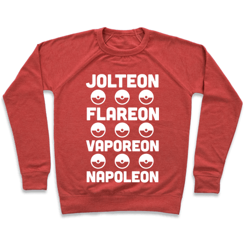Jolteon Flareon Vaporeon Napoleon Pullover