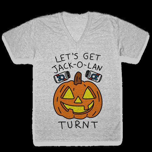 Let's Get Jack-O-Lanturnt V-Neck Tee Shirt