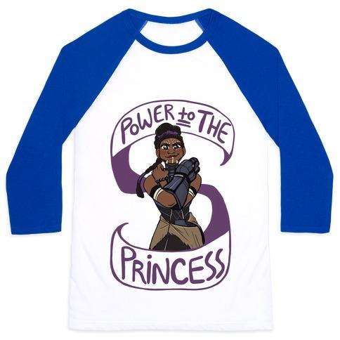 Power to the Princess Baseball Tee
