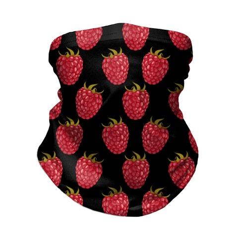 Raspberry Pattern Black Neck Gaiter