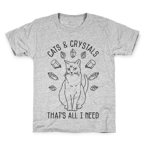Cats and Crystals Kids T-Shirt