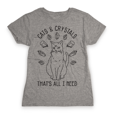Cats and Crystals Womens T-Shirt