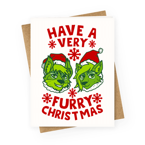 Have A Very Furry Christmas Greeting Card