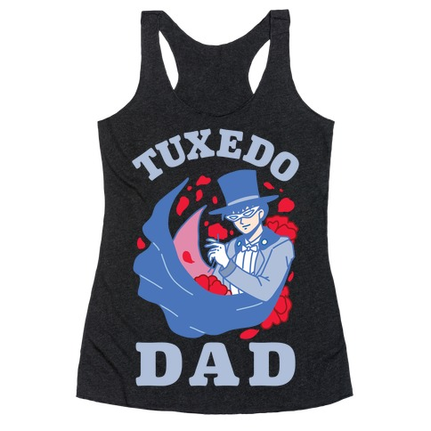 Tuxedo Dad Racerback Tank Top