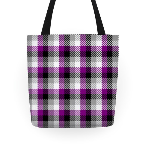 Ace Pride Flag Plaid Tote