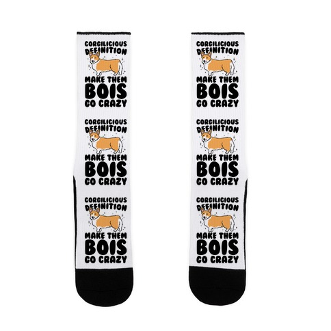 Corgilicious Parody  Sock