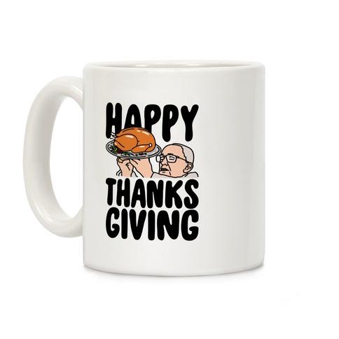 Happy Thanksgiving Pope Meme Coffee Mug