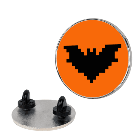 Pixel Halloween Bat Pin