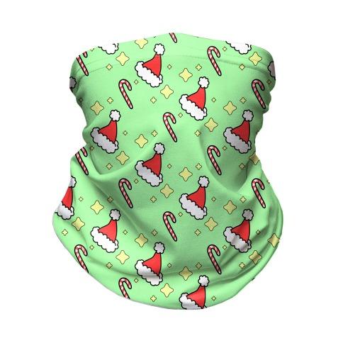 Santa Hats N Candy Canes Neck Gaiter