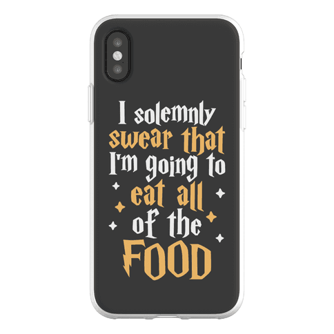 I Solemnly Swear That I'm Going To Eat All Of The Food Phone Flexi-Case
