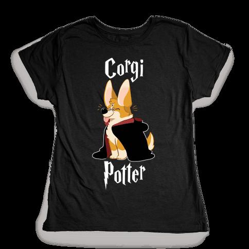 Corgi Potter Womens T-Shirt