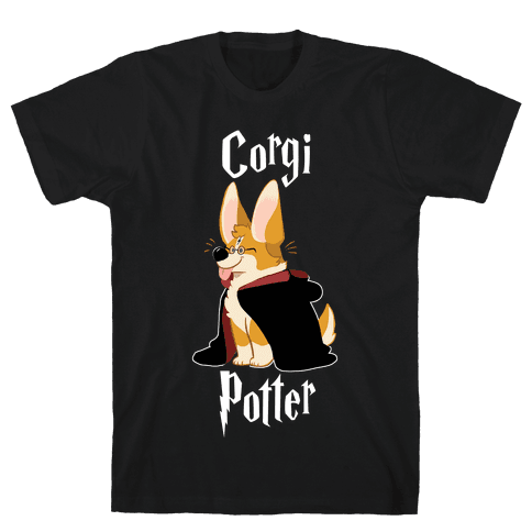 Corgi Potter Mens T-Shirt